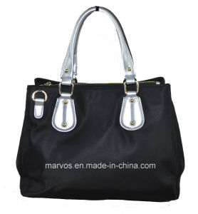 Fabric Handbags with Leather /Tote Fabric Handbags (BS13623) pictures & photos
