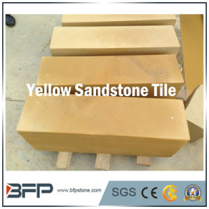 Yellow Floor Tile Sandstone for Flooring/Wall Cladding/Step with Gold Like pictures & photos