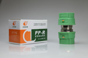 Green PPR Fittings of Screw Thread Male Brass Union pictures & photos