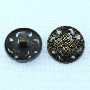 Hollow Carved Vintage Alloy Shank Sewing Button pictures & photos