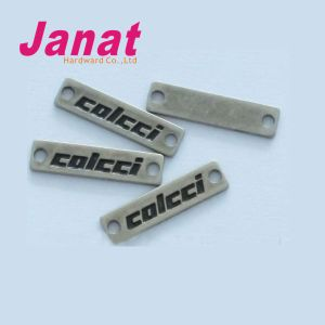 Manufacture Engraved Clothing Metal Labels for Garment
