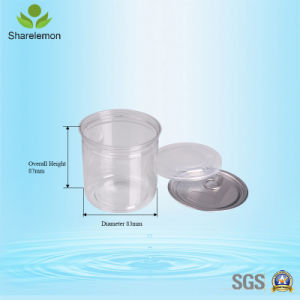 420ml Clear Plastic Food Jar Big Mouth for Food Storage with Lids pictures & photos