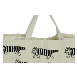 Fashion Canvas Tote Bag with Simple Logo Printing pictures & photos