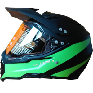 DOT Approved Full Face Motorbike/Motorcycle Helmet ABS Helmet (MH-010) pictures & photos