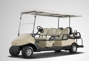 Electric Fuel Type 6 Back Seat Electric Golf Cart for Sale pictures & photos