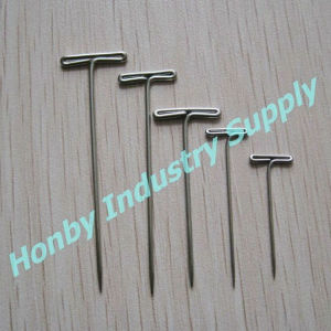 Honby Supplier 2′′ Flat Straight T Pins for Lapels pictures & photos