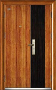 Steel Wooden Security Door, Wood Grain Surface Hot Sales pictures & photos