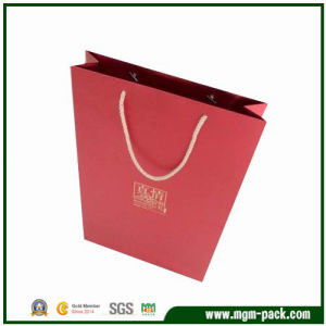 Simple Design Professional Custom Red Paper Carrier Bag pictures & photos