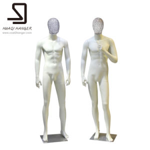 Standing Male Mannequins with Birdcage Head for Window Display pictures & photos