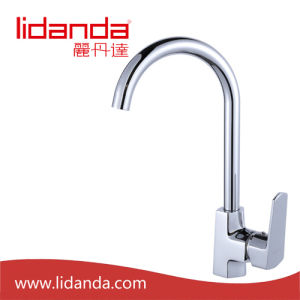 Contemporary Brass Kitchen Faucet with Chrome Finish pictures & photos