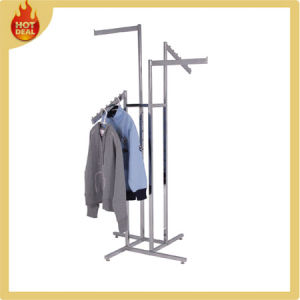 Supermarket Stainless Steel Clothes Hanging Stand Rack pictures & photos