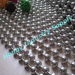 New Condition Shining 8mm Silver Plated Rounded Metal Ball Chain pictures & photos