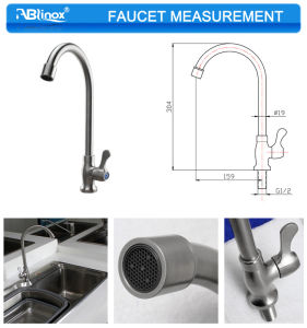 Single Hose1 Water Kitchen Faucet (AB112) pictures & photos