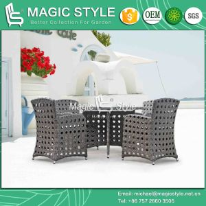 Leisure Wicker Dining Set with Open Weaving Outdoor Dining Set (Magic Style) pictures & photos