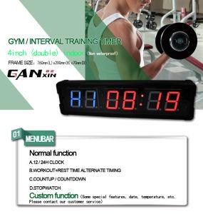 [Ganxin] 4 Inch Double LED Display Fitness Digital Clock