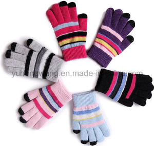 Warm Knitted Acrylic Touch Screen Magic Gloves for Smartphone pictures & photos