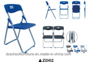 Cheap Practical Folding Conference Plastic Chair with Steel Frame pictures & photos