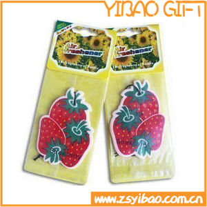 Stawberry Shaped Hanging Paper Car Air Freshener with Fruit Fragrance (YB-f-007) pictures & photos