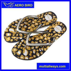 New Design Leopard-Print PE Men Trendy Flip Flop pictures & photos