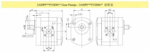 (2APG10F60Z11) CE Proved High Pressure Hydraulic Gear Oil Pump with Cast Iron Cover pictures & photos