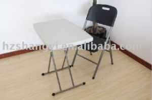 Adjustable Plastic Child Study Folding Table pictures & photos