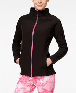 Women fashion Slim Stand Collar Softshell Jacket pictures & photos