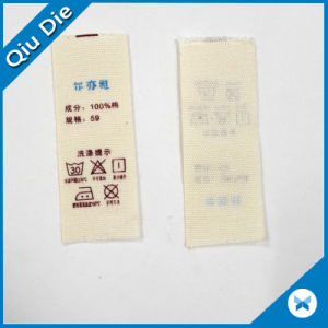 100 Polyester Washing Instructions for Garment Label pictures & photos