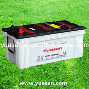First-Class Heavy 12V200ah Lead Acid Dry Charged Auto Battery-N200