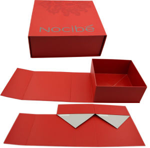 Red Foldable Cardboard Box for Lady Handbag pictures & photos