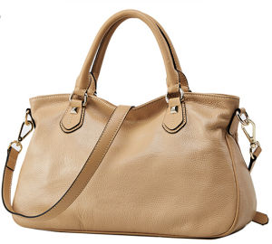 Fashion Ladies′ Leather Hand Bag / China Wholesale (075) pictures & photos
