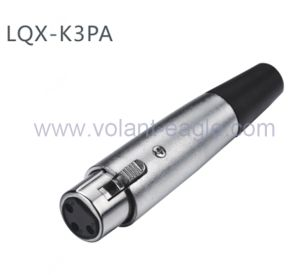 High Quality Audio Connectors 3-Pin Female XLR Connector K3PA with RoHS pictures & photos