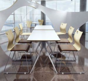 Good Quality Cheap Restaurant Use Stainless Steel Bentwood Dining Chair pictures & photos