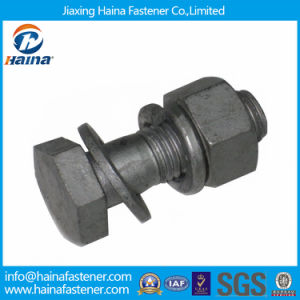 High Quality DIN933 Hot DIP Galvanized Bolt with Nut and Washers pictures & photos