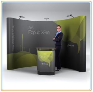 4X3 Magnetic Pop up Display Stand with Curved Style pictures & photos