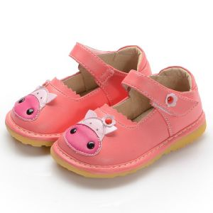 Cute Baby Cow Squeaky Shoes Handmade Soft