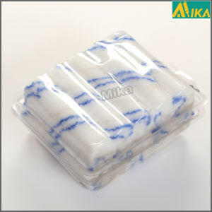 "4"" 10PCS Blister Packing Double Blue Strips Polyester Mini Roller"