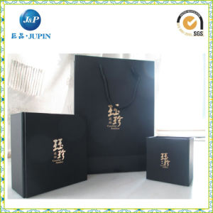 Full Black Printing Handle Luxury Paper Bag for Jewelry (JP-PB012) pictures & photos