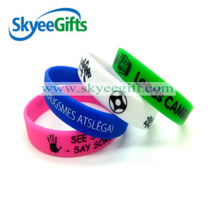 Custom Printed Color Silicone Bracelets with SGS Certification pictures & photos