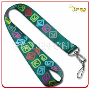 Promotional Gift Heat Transfer Printing Satin Lanyard with Metal Hook pictures & photos