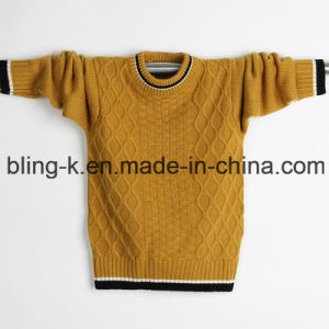 2016 Latest Simple Round Neck Knitted Pullover for Men