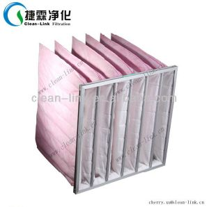 Synthetic Fibre F7 Pink Medium Efficiency Pocket Air Filter pictures & photos