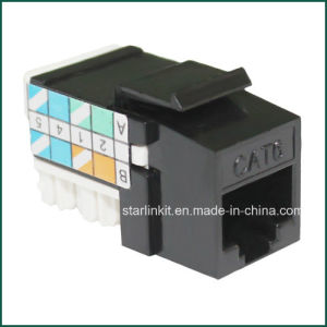 90 Degree 110 IDC CAT6 Keystone Jack for Patch Panel pictures & photos