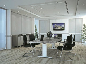 Good Quality Boat Shaped Conference Boardroom Table (HF-RE10) pictures & photos