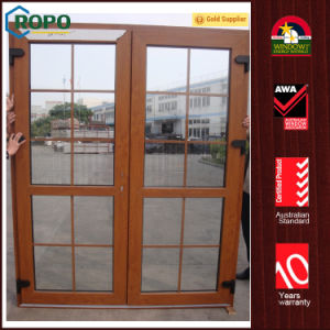 European Standard UPVC Double French Door with Grills Design pictures & photos