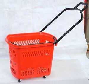 Shopping Basket, Roller Basket, Rolling Basket, Plastic Basket pictures & photos