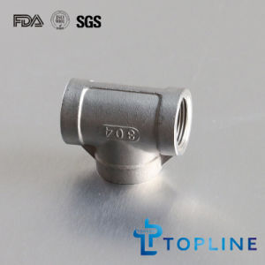 Stainless Steel Tee (Female) -Threaded Pipe Fitting pictures & photos