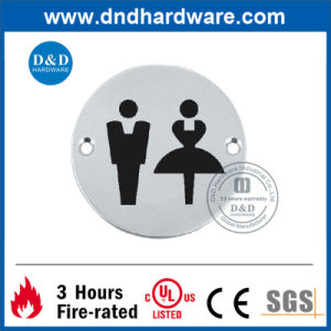 Door Fitting SS304 Sign Plate for Public Washroom (DDSP003) pictures & photos