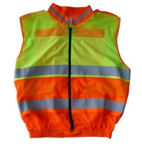 Reflective Safety Vest, Stand Collar, Closed with Zipper pictures & photos