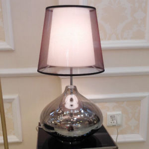 Modern Bedside Glass Reading Desk Table Light Lamp with Double Shade for Hotel pictures & photos