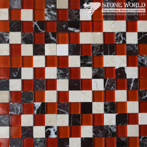 Marble & Glass Mosaic Tiles for Flooring/Swimming Pool (mm-017) pictures & photos